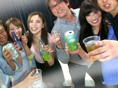 『パーティー飲みぃいw』素人な巨乳ナースお姉さん達とハーレム飲酒w
