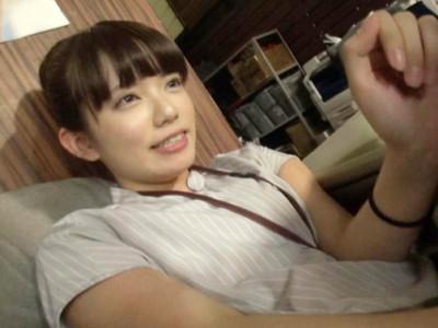 【女子社員】『エッチ大好きです…♡』ロリ童顔のスレンダーお姉さんをAV女優デビュー企画でハメ撮り!
