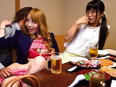 相席居酒屋でお姉さんとギャルに飲ませまくって泥酔プレイ!!お店の中なのにセックスしちゃうやつ!
